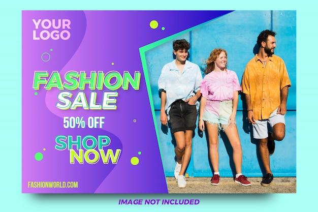 Banner de compras de moda criativa abstrata