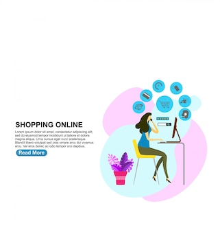 Banner de compras on-line.