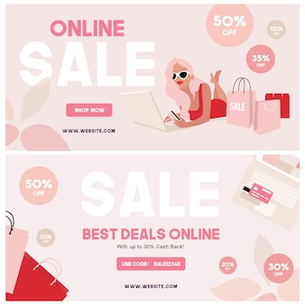Banner de compras on-line