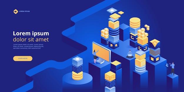 Banner de conceito de blockchain