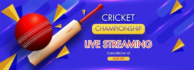Banner de conceito de críquete.