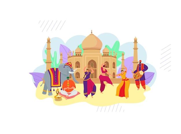 Banner de conceito de estilo indiano