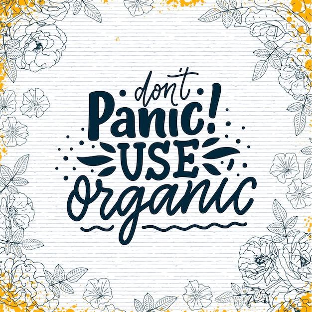 Banner de conceito de frase orgânica para cuidados com a pele