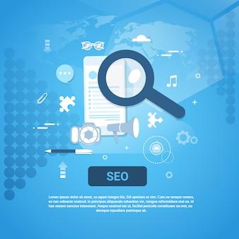 Banner de conceito de otimização de seo
