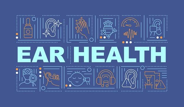 Banner de conceitos de palavras para saúde auditiva