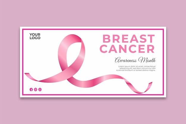 Banner de conscientização do câncer de mama