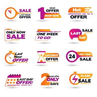 Banner de contagem regressiva de venda