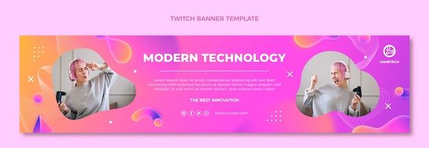 Banner de contração de tecnologia de fluido abstrato gradiente