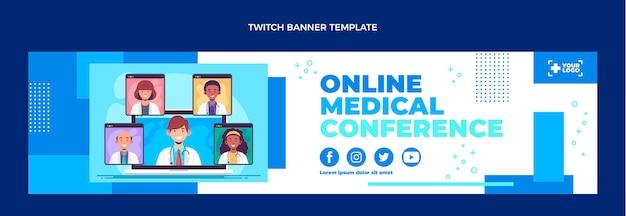 Banner de contração médica de design plano