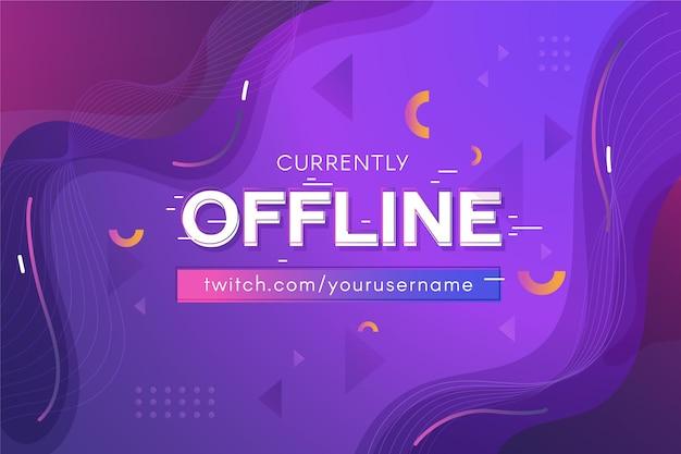 Banner de contração offline abstrata