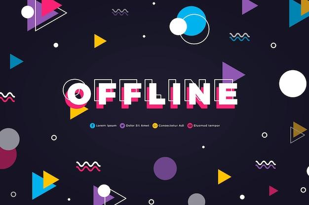 Banner de contração offline no estilo memphis