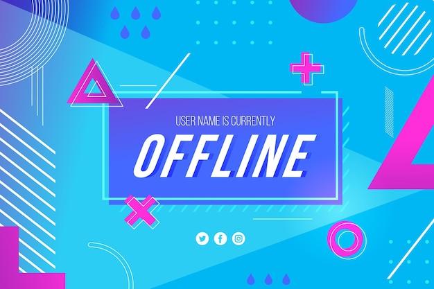 Banner de contração offline no tema de memphis