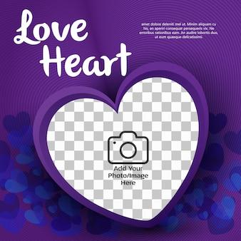 Banner de coração de amor