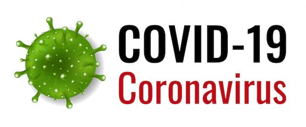 Banner de coronavírus com fundo branco