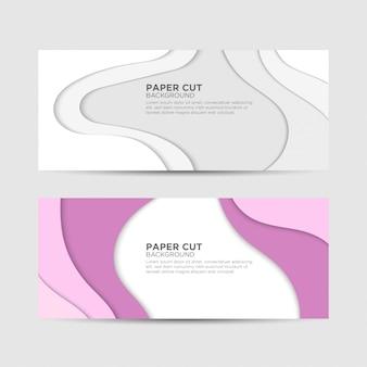 Banner de corte de papel para negócios