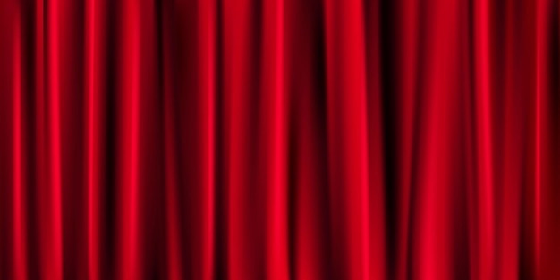 Banner de cortina vermelha