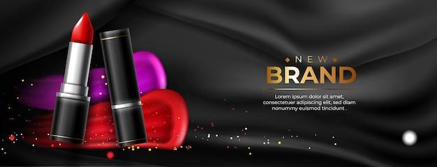 Banner de cosméticos para batom
