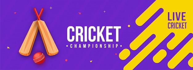 Banner de críquete ao vivo