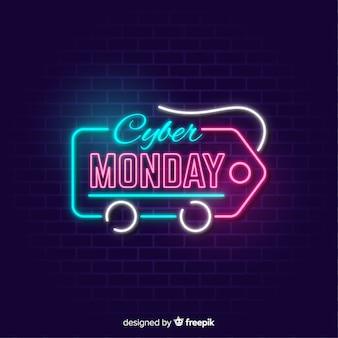 Banner de cyber segunda-feira com etiqueta de preço