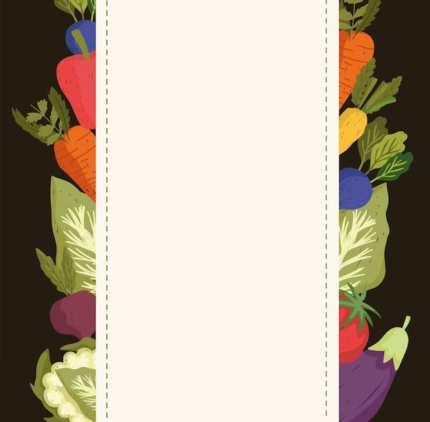 Banner de decoração de legumes