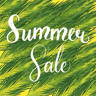 Banner de desconto sazonal de venda de verão