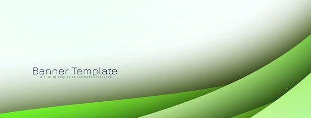 Banner de desenho de onda elegante abstrato
