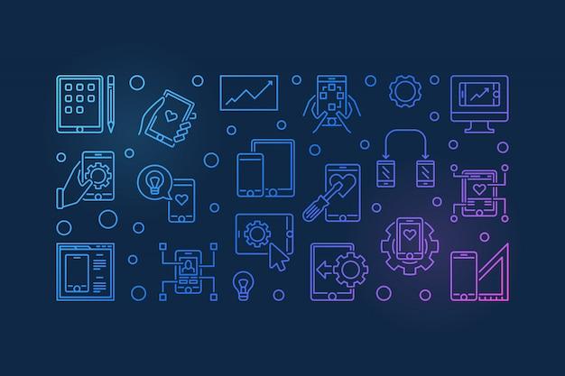 Banner de desenvolvimento de aplicativos para dispositivos móveis