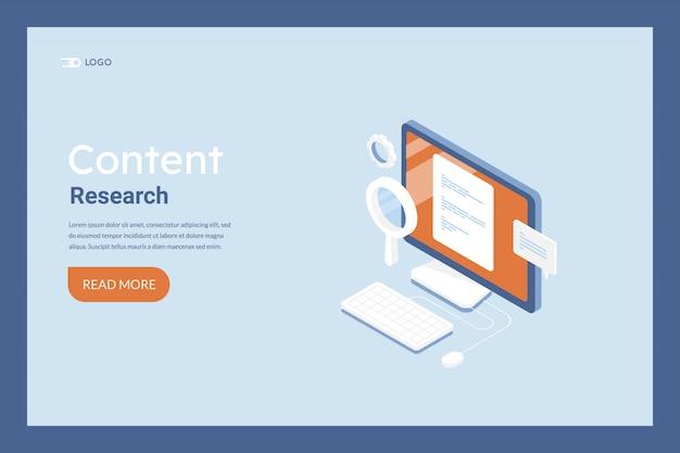 Banner de desenvolvimento de pesquisa de conteúdo