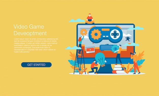 Banner de desenvolvimento de videogame