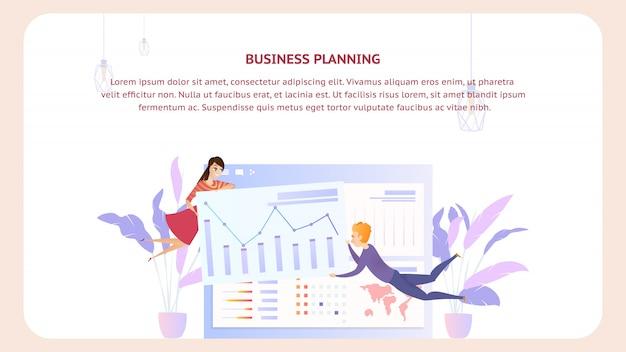 Banner de design de documento de análise de planejamento de negócios
