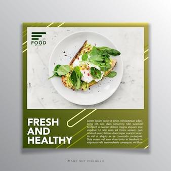 Banner de design de modelo de comida para banner social para promoção de mídia social