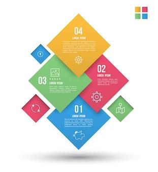 Banner de design moderno quadrados