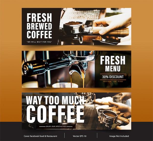 Banner de design para redes sociais, capa do facebook modelo para publicidade