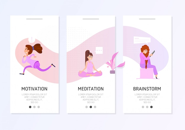Banner de design plano freelance.