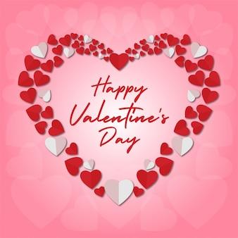 Banner de dia dos namorados quadro de corações
