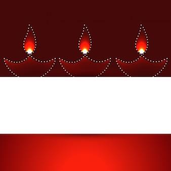 Banner de diwali com lâmpadas