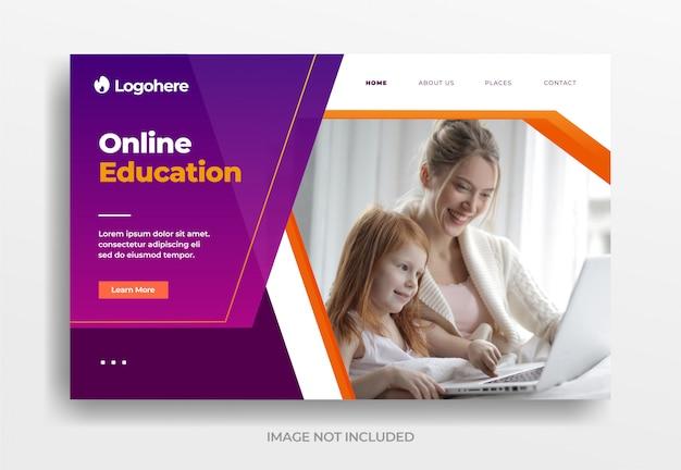 Banner de educação on-line