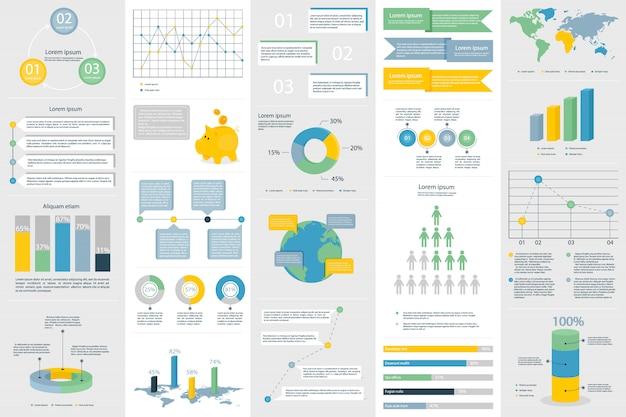 Banner de elementos de visualização de dados infográfico