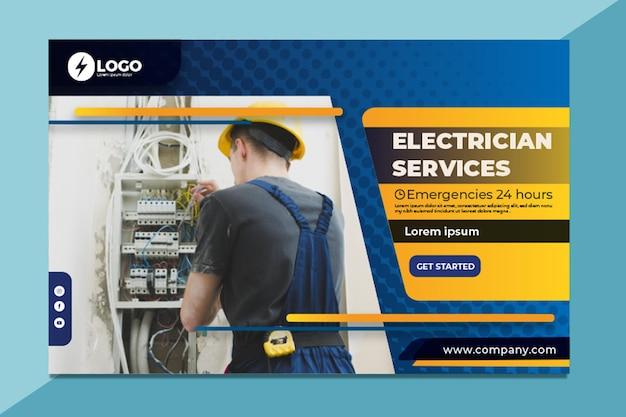 Banner de eletricista