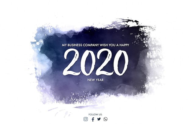 Banner de empresa moderna para feliz ano novo