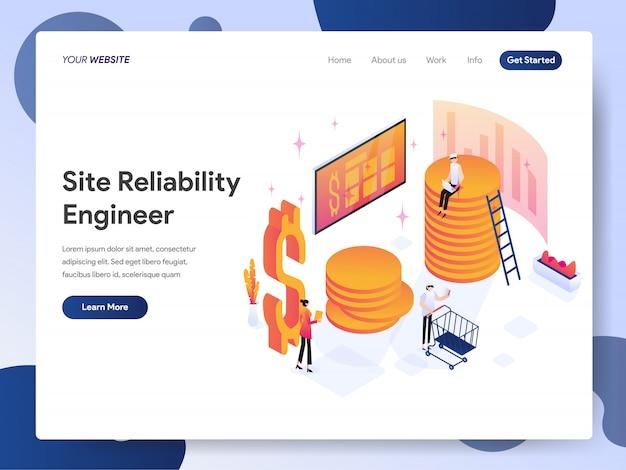 Banner de engenheiro de confiabilidade do site da página de destino