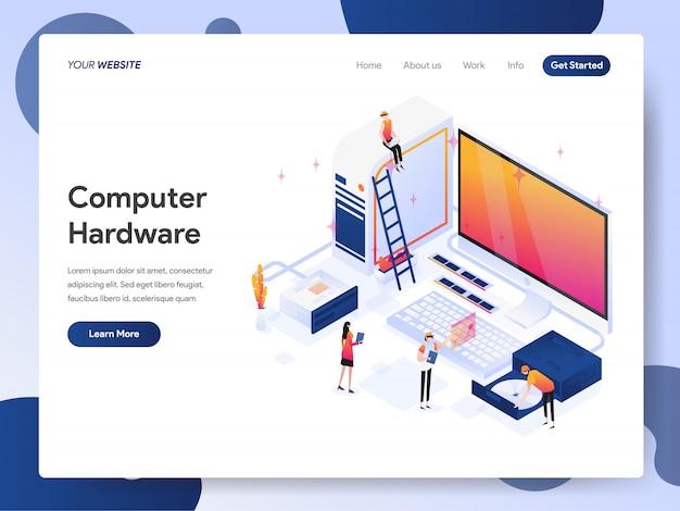 Banner de engenheiro de hardware de computador da página de destino