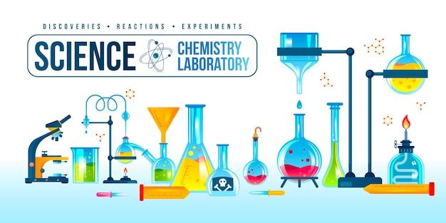 Banner de equipamentos de laboratório