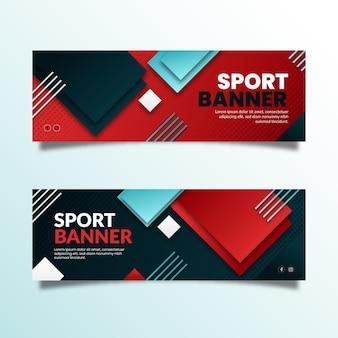 Banner de esporte de design gradiente