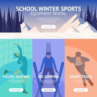 Banner de esporte de inverno