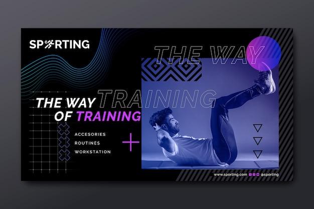 Banner de esporte e tecnologia