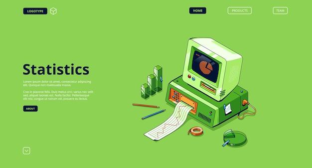 Banner de estatísticas. serviço de análise e pesquisa de dados, informação estatística.