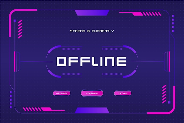 Banner de estilo de jogador de twitch offline