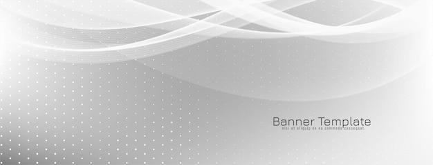 Banner de estilo onda elegante abstrato Vetor grátis