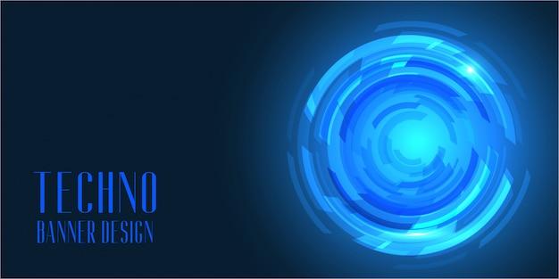 Banner de estilo techno